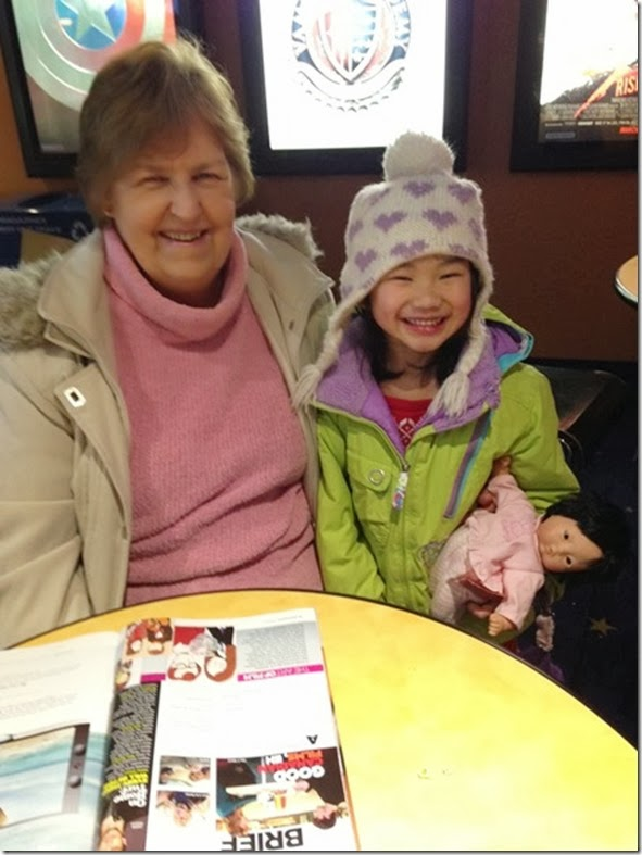 Grandma and Hannah at Frozen