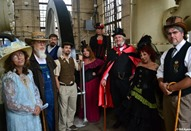 Members of the Red River Steampunk Expeditionary Society