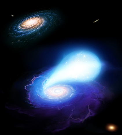 uma anã branca e uma estrela de nêutrons