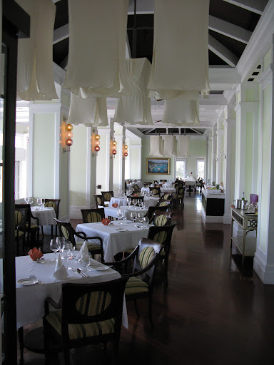 Here's Il Cielo restaurant between lunch and dinner.