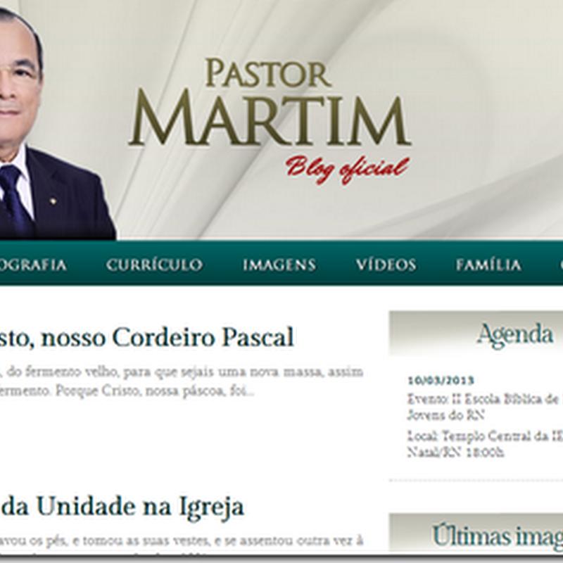 """""""Pastor Martim"""" - Blog oficial do Presidente da IEADERN"""