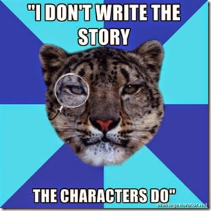 The characters write the story