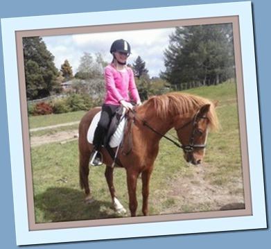 Danielle riding framed