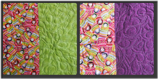 Alisons quilt back two Collage