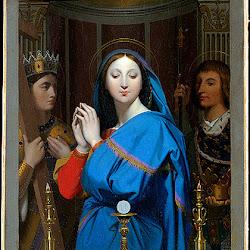 Ingres, Virgin Adoring Host 1852