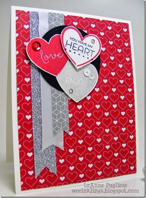 LeAnne Pugliese WeeInklings Paper Pumpkin Valentine Stampin Up