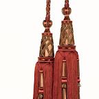 Elegancki chwost podwójny do zasłon, kurtyn, tkanin i dekoracji wnętrz.