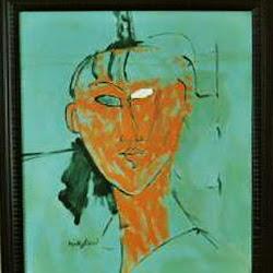 Modigliani, Tête rouge 1915