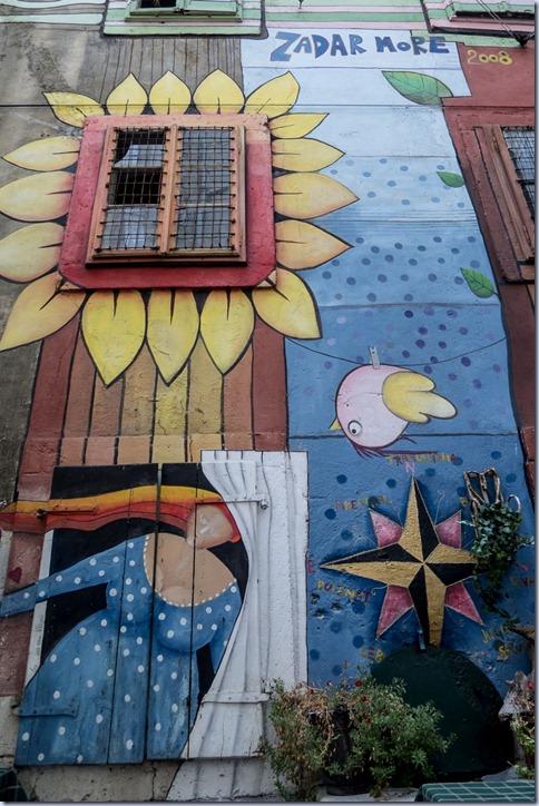 pobarvani zid