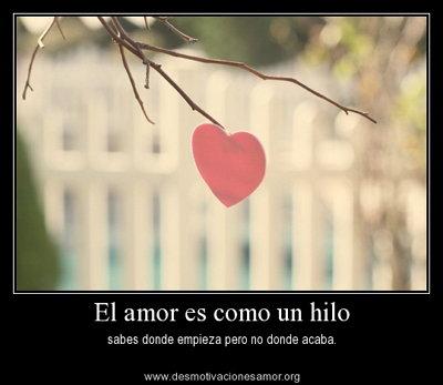 El amor es como un hilo