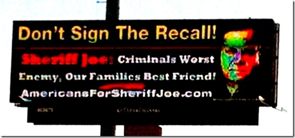 Arpaio Bill Board - Don't Recall Petition