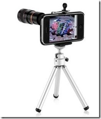 iPod Telephoto Lens and Tripod