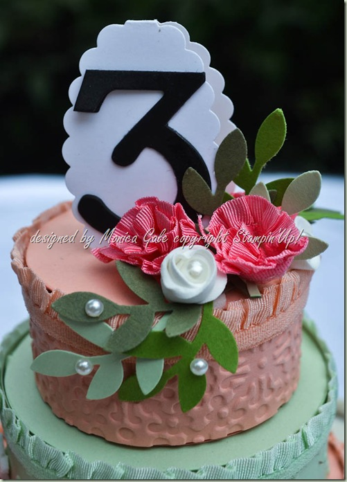 Stampin'Up! Cake Table number close