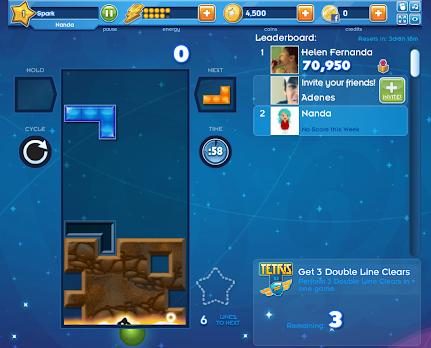 Fim do Tetris Star no Facebook