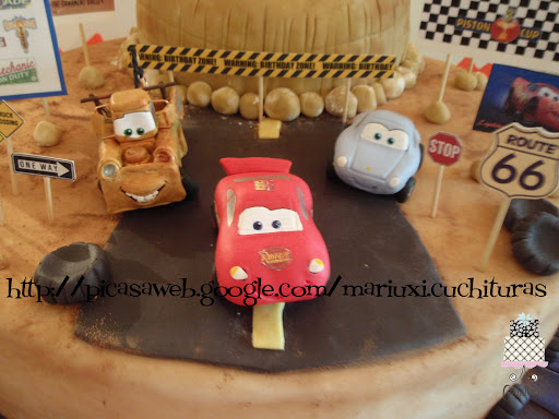Cars Mater McQueen y Sally
