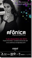 Convite para o lançamento de Afônica