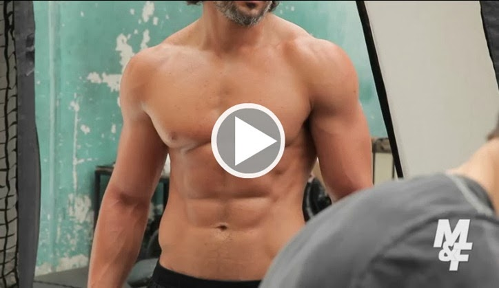 Joe Manganiello Muscle and fitness behind the scenes 1