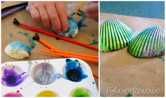 Painted Seashell Magnets 2