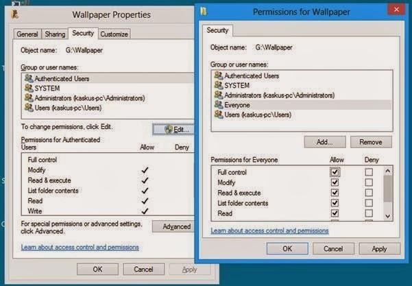 Cara Mengatasi Acces Denied Pada Folder/File