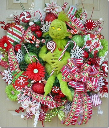 grinch wreath etsy