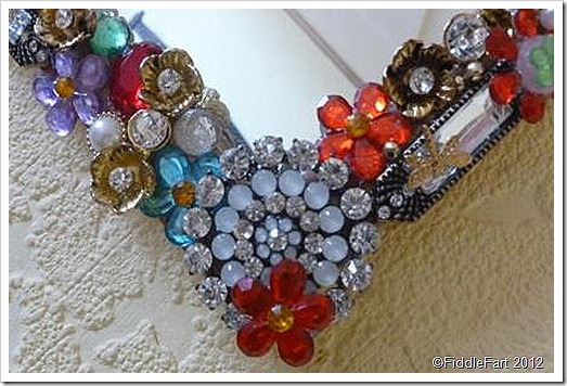 Jewelled decorated mirror
