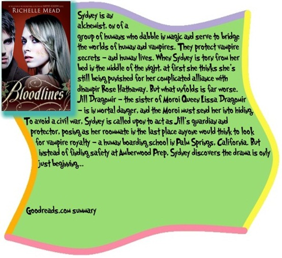 Goodreads summary box for Bloodlines by Richelle Mead
