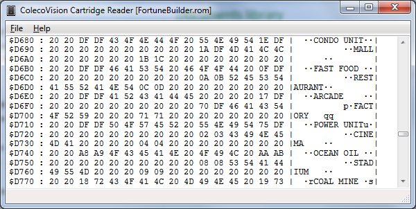 Cartridge Reader with Fortune Builder Loaded
