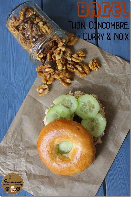 Bagel Thon, Concombre, Curry & Noix 6