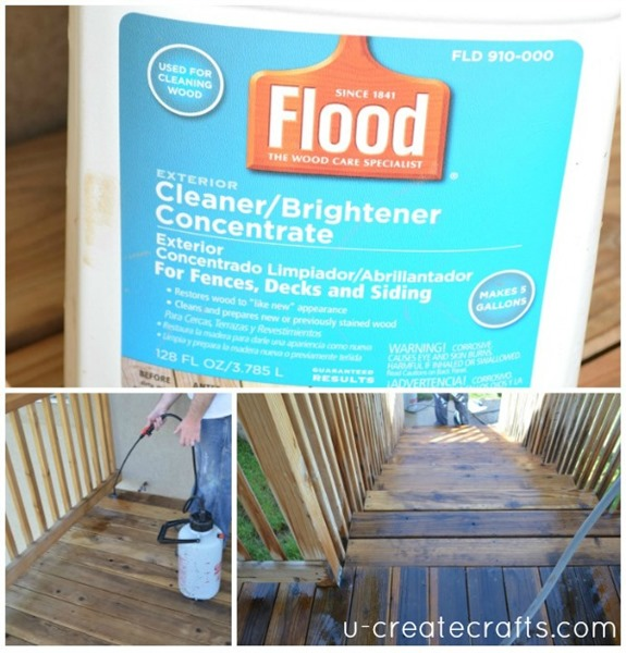 Deck makeover with FLOOD Cleaner