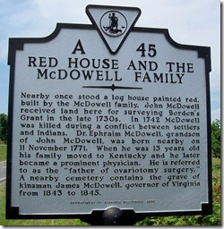 Red House & the McDowell Family Marker No. A-45