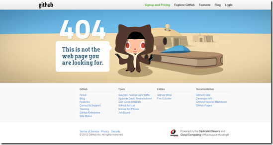 404 Error Page Design - Github