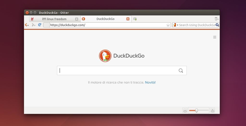 Otter Browser in Ubuntu Linux