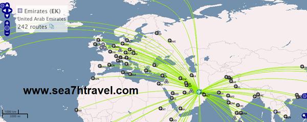 وجهات طيران الامارات الاوربية