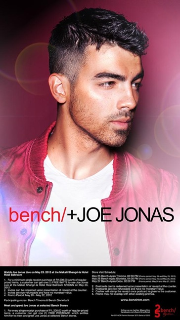 Joe Jonas Bench meet and greet