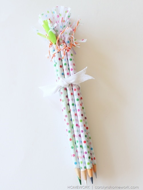 Anthropologie Inspired Pencils via homework | carolynshomework.com
