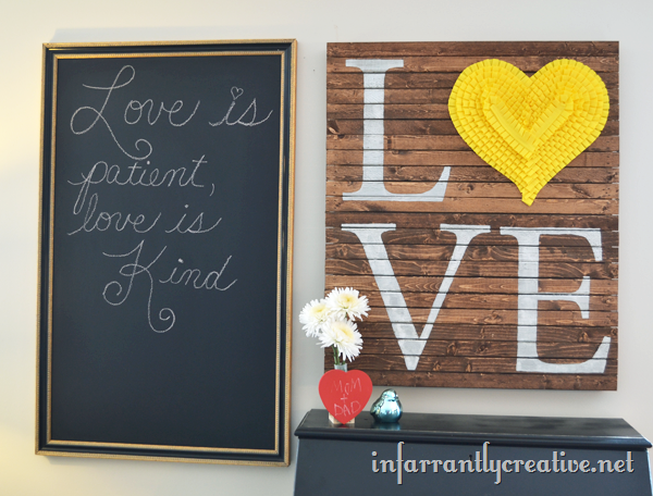 LOVE Pallet Art By Infarrantly Creative