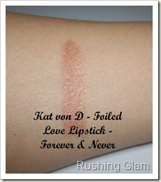 Kat von D - Foiled - Forever & Never - Swatch
