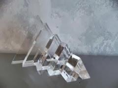 Lucite V sculptures