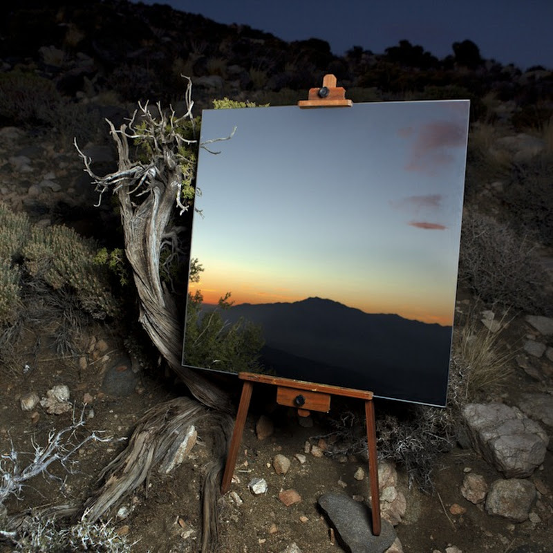 Photographs of Mirrors on Easels that Look Like Paintings