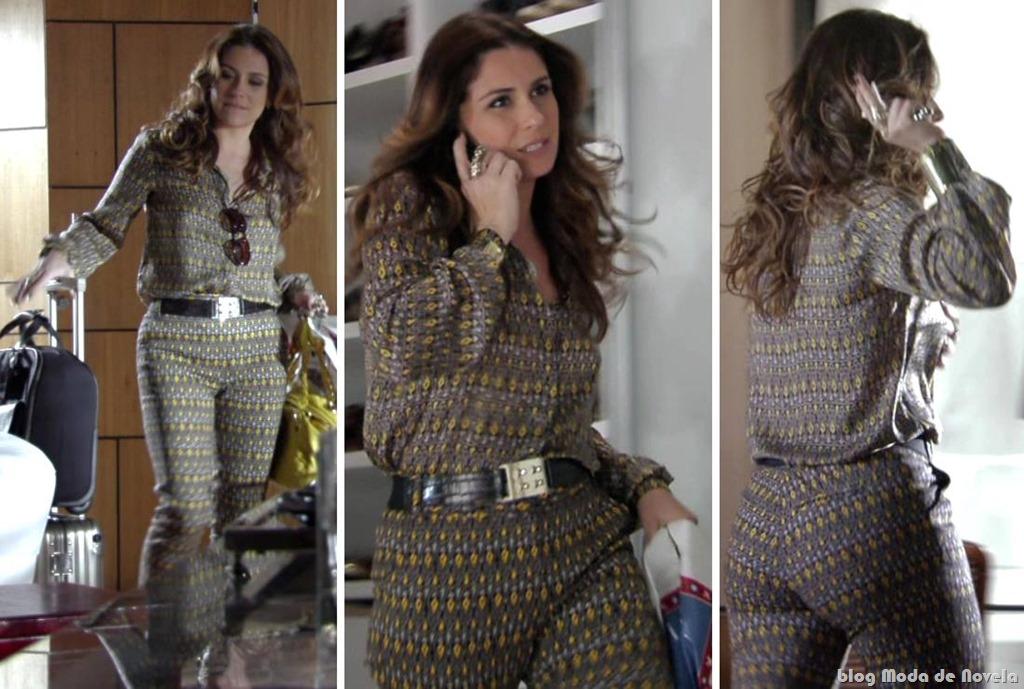 moda da novela Salve Jorge - look da dona Helô dia 25 de outubro de 2012