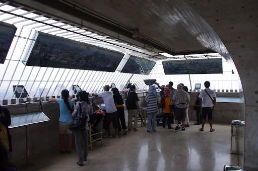 The observation deck at the top of Monas.