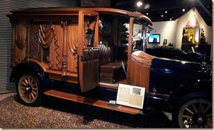 National Museum of Funeral History wood carved hearse