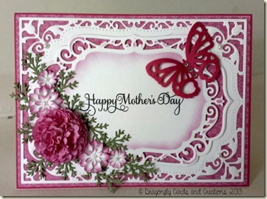 Dragonfly cards and creations a mothers day card for Classy mothers day cards