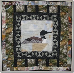 Dad's quilts Loon