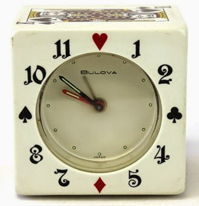 Bulova playing cards clock front
