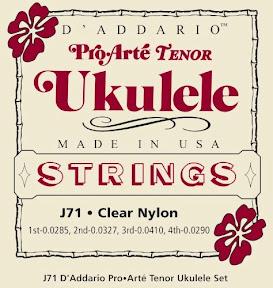 d'addario pro arte j71 ukulele strings