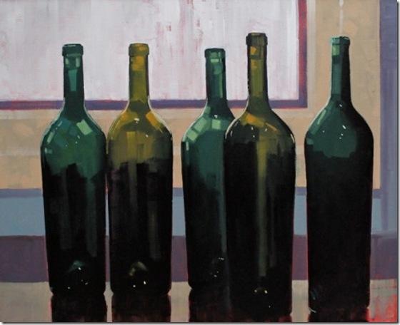 five bottles-Reid-Thorpe-ENKAUSTIKOS