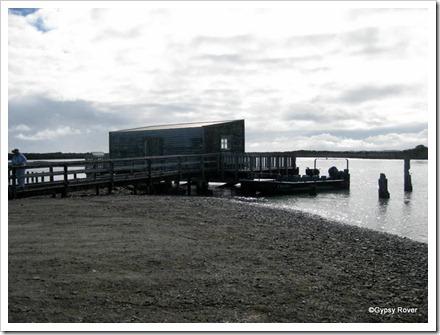 Okarito wharf.
