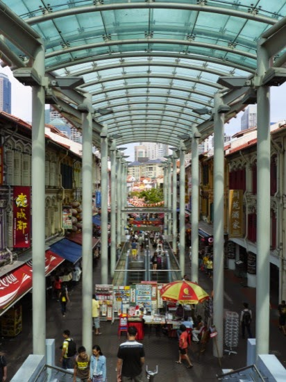 Looking down in to 'China Town'