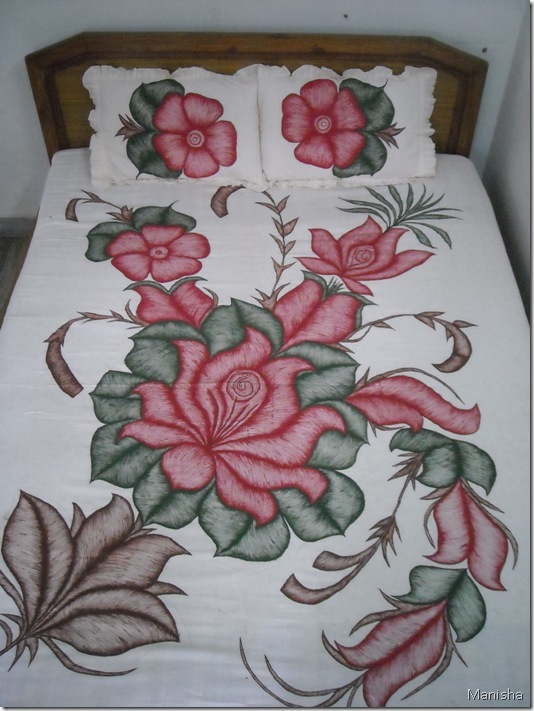Fabric painting-flower pattern